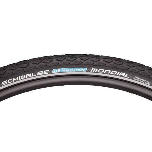 Marathon Mondial Bike Tire: 700 x 35c, Wire Bead, Performance Line, Endurance Compound, RaceGuard, Black/Reflect