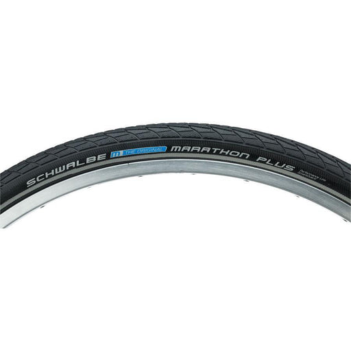 "Marathon Plus Bike Tire: 26 x 1-3/8"", Wire Bead, Performance Line, Endurance Compound, SmartGuard, Black/Reflect"