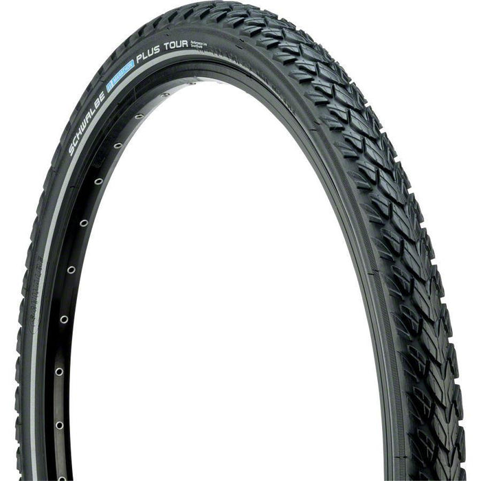 "Marathon Plus Tour Bike Tire: 26 x 2.00"", Wire Bead, Performance Line, Endurance Compound, SmartGuard, Black/Reflect"