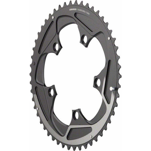 SRAM  50 Teeth 110mm BCD 11-Speed Yaw Chainring Black with Silver Trim, Use with 34T