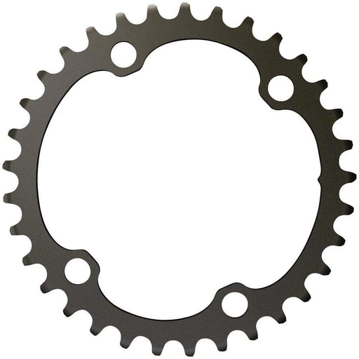 SRAM  Force 2x12-Speed Inner Chainring - 35t, 107 BCD, 4-Bolt, Blast Black, For use with 48t Outer