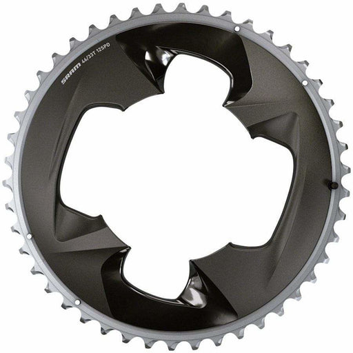SRAM  Force 2x12-Speed Outer Chainring - 46t, 107 BCD, 4-Bolt, Polar Grey, For use with 33t Inner