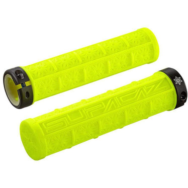 Supacaz Grizips Bike Handlebar Grips: Neon Yellow