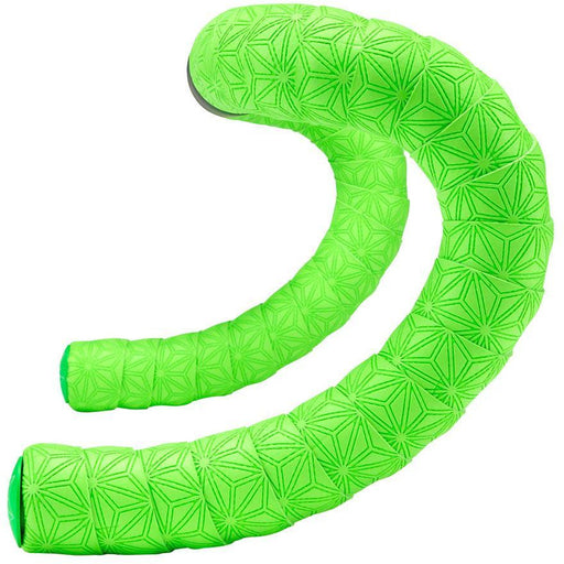Supacaz Super Sticky Kush TruNeon Bar Tape: Neon Green with Neon Green Plugs