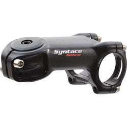 "Syntace  Flatforce Stem: 31.8mm Clamp, 1-1/8"" Steerer, 77mm Length, -18 degree, -12mm Drop, Black"
