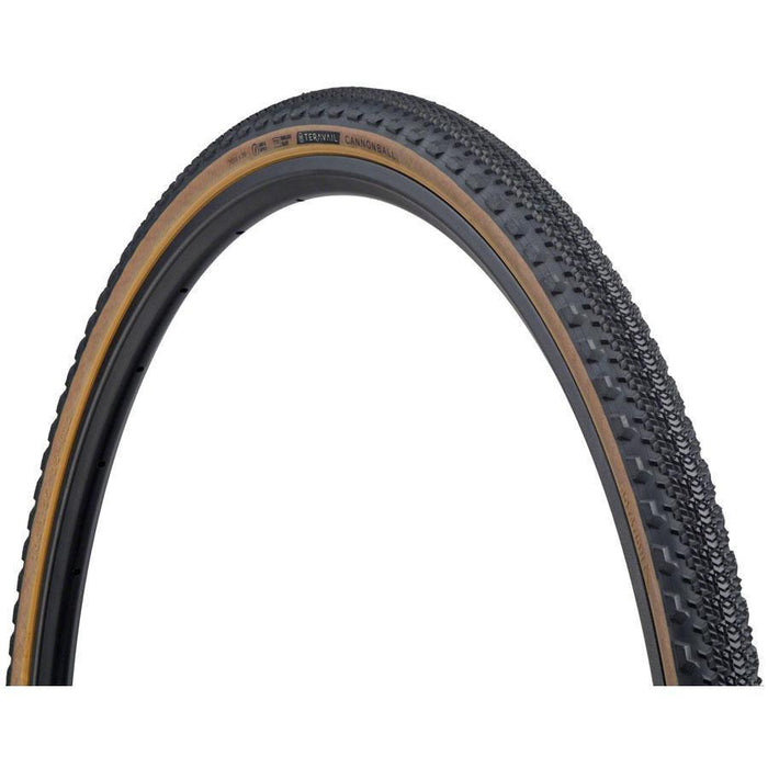 Teravail Cannonball Bike Tire, 700 x 35, Light and Supple, Tubeless-Ready, Tan