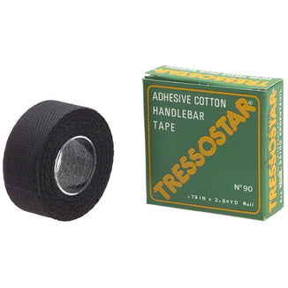 Tressostar Cotton Bike Handlebar Tape - Black , Box of 10