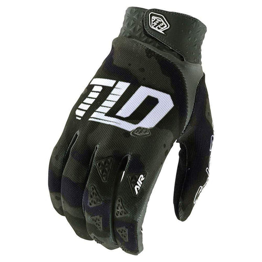 Troy Lee Air Full Finger MTB Gloves - Green Camo