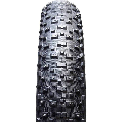 "Snowshoe XL Studded Fat Bike Tire 26"" x 4.8"" 120tpi Folding Bead Silica Compound"