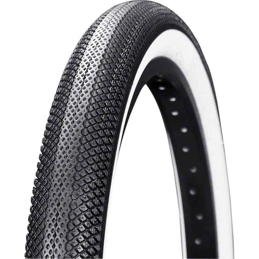 "Speedster BMX Bike Tire 20"" x 1.50"" Folding Bead Black Tread White Sidewall"