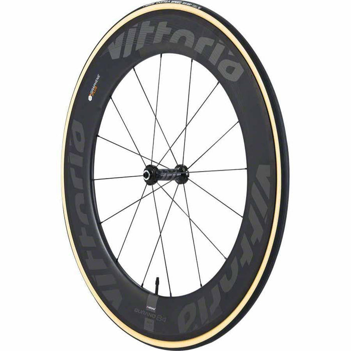 Corsa Speed G+ Bike Tire: Tubular, 700x23, Black/Tan