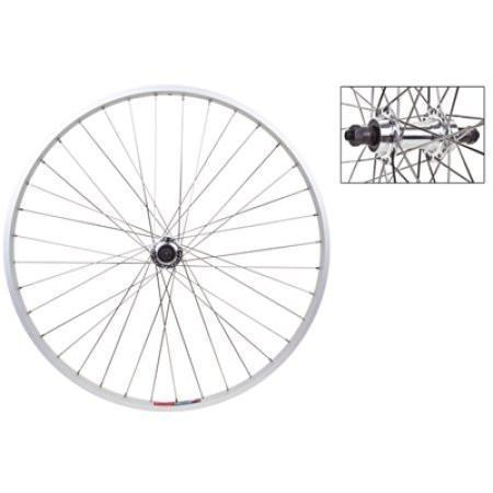 Rear Wheel 26x1.5 Alloy Silver Quick Release Silver 5/7s 36SS