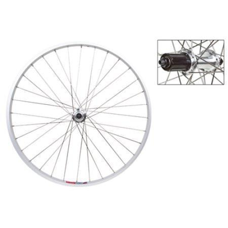 Rear Wheel 26x1.5 Alloy Silver Quick Release Silver RM30 8s 36SS