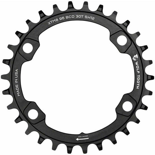 Wolf Tooth 96 BCD Chainring, 4-Bolt, For Shimano M8000/M7000 Cranks, Requires 12-Speed Hyperglide+ Chain