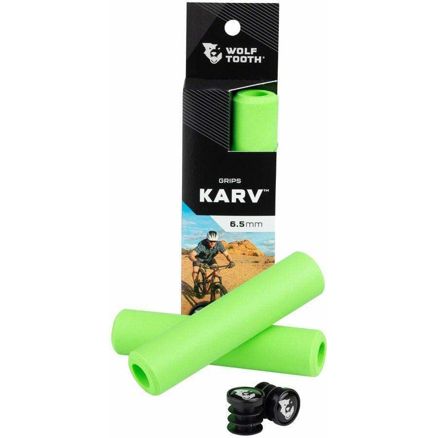 Wolf Tooth Karv Bicycle Grips//Green