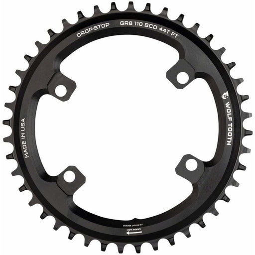 Wolf Tooth Shimano 110 Asymmetric BCD Chainring, 4-Bolt, Drop-Stop Flattop, For Shimano GRX Cranks