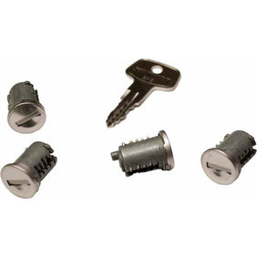 Yakima SKS Lock Core with Key: 4-Pack