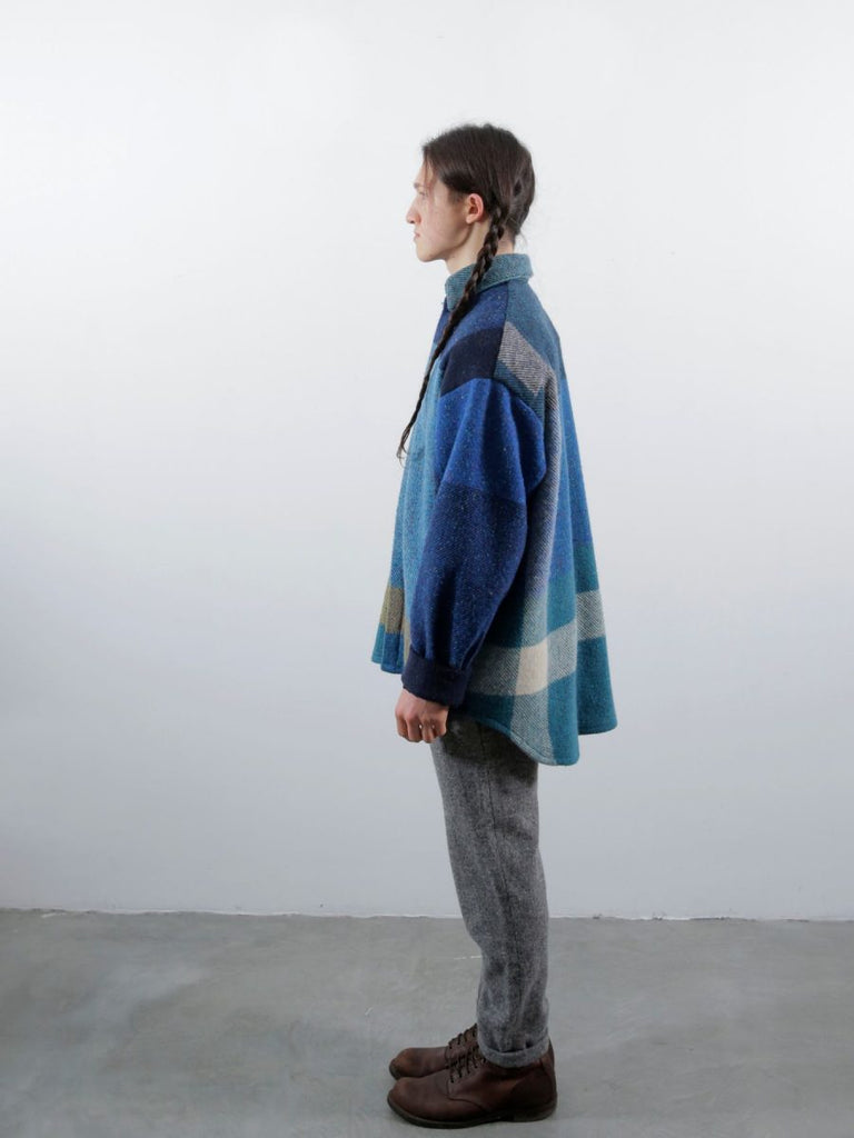 The Blue Oversized Check Shirt