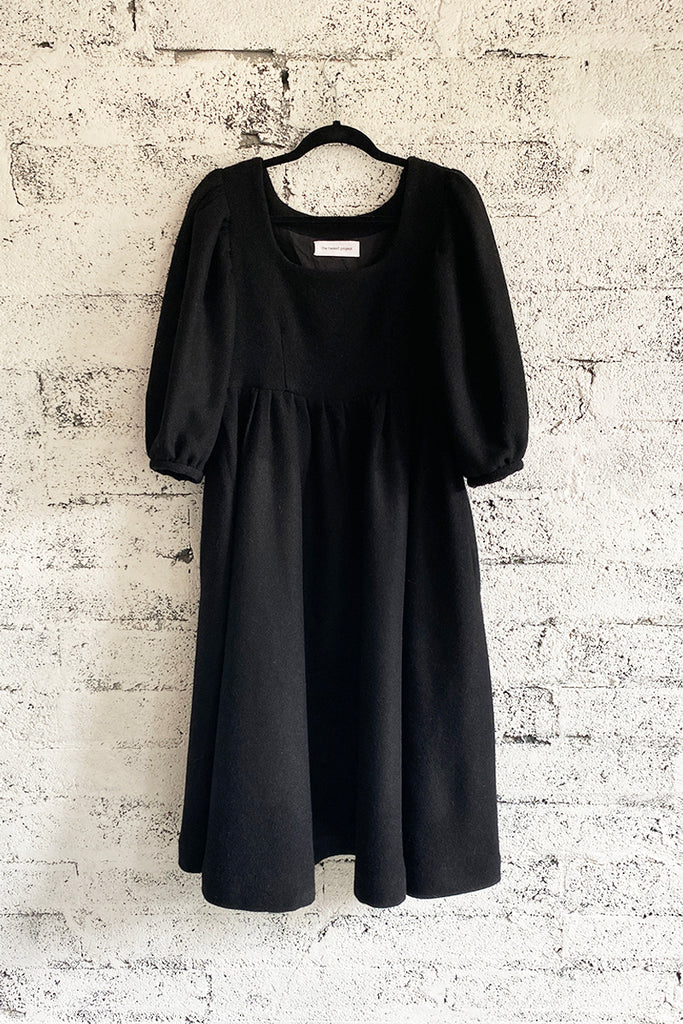 Black Wool Dress- Land Lovers