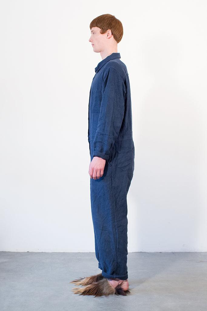 Linen Workwear Boilersuit Mens