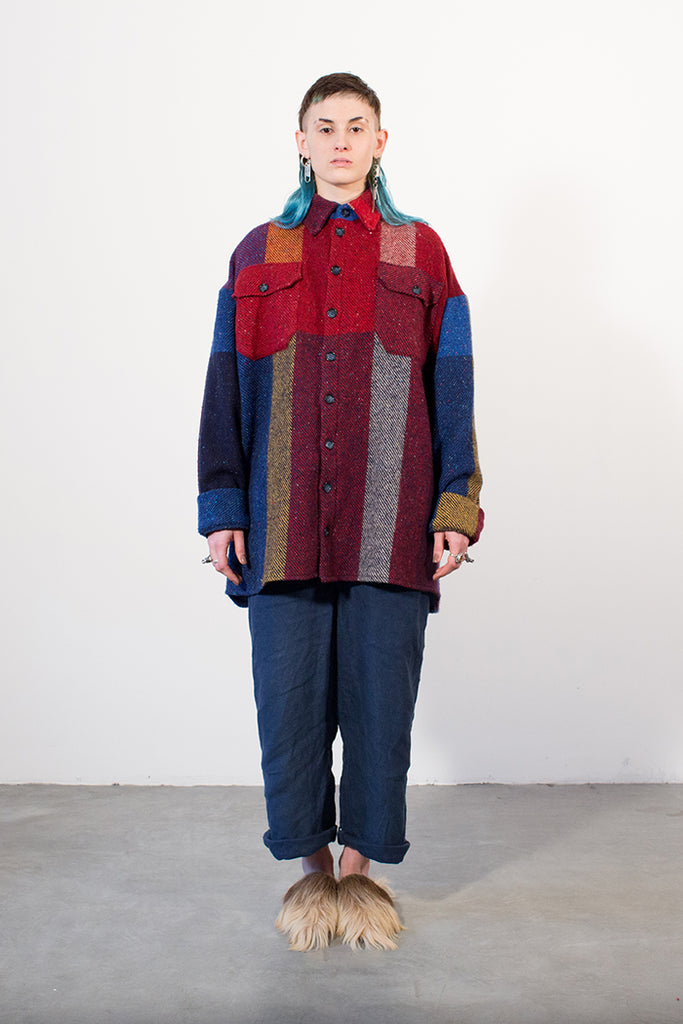 The Red Oversized Check Shirt