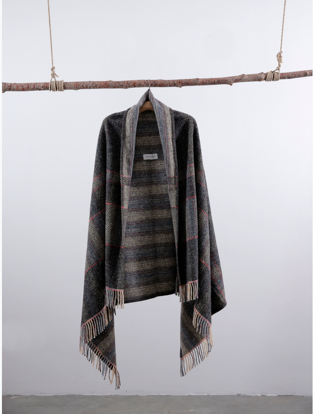 Charcoal Merino Blanket coat