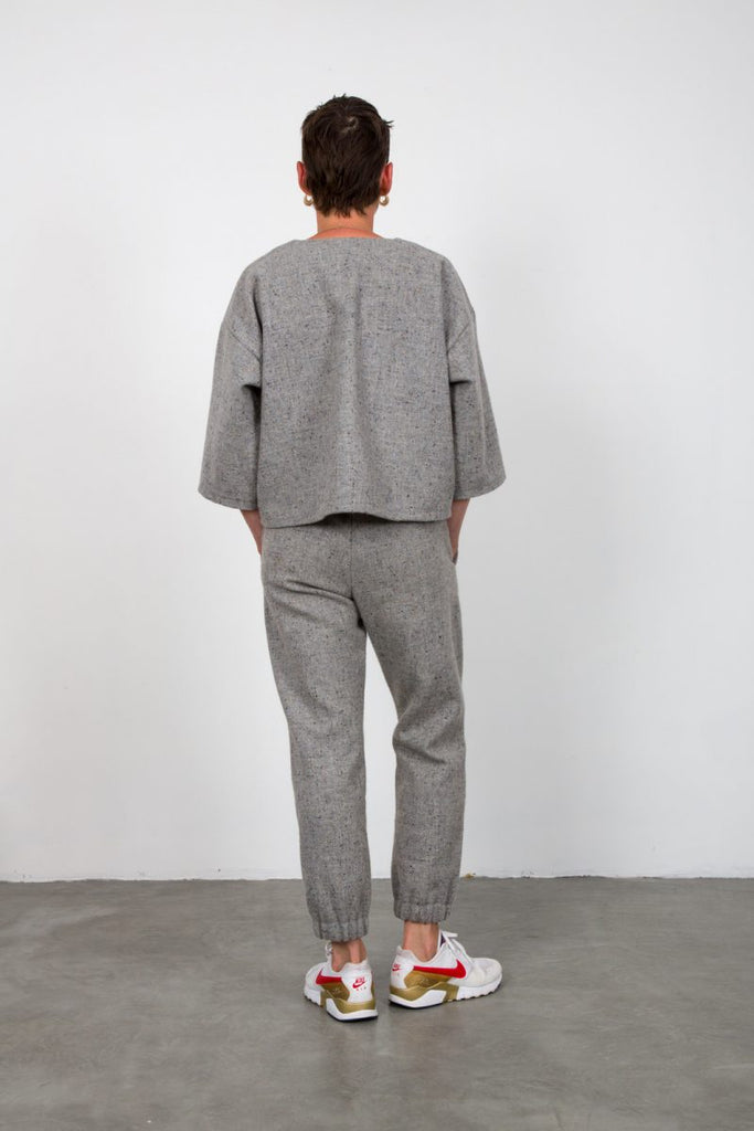 Grey tweed sweatshirt