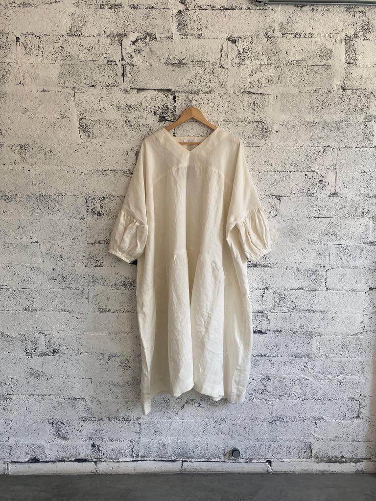 Linen Balloon Dress