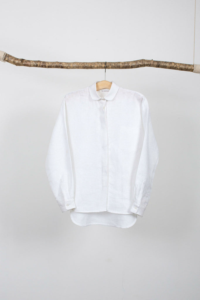 women's round collared shirt