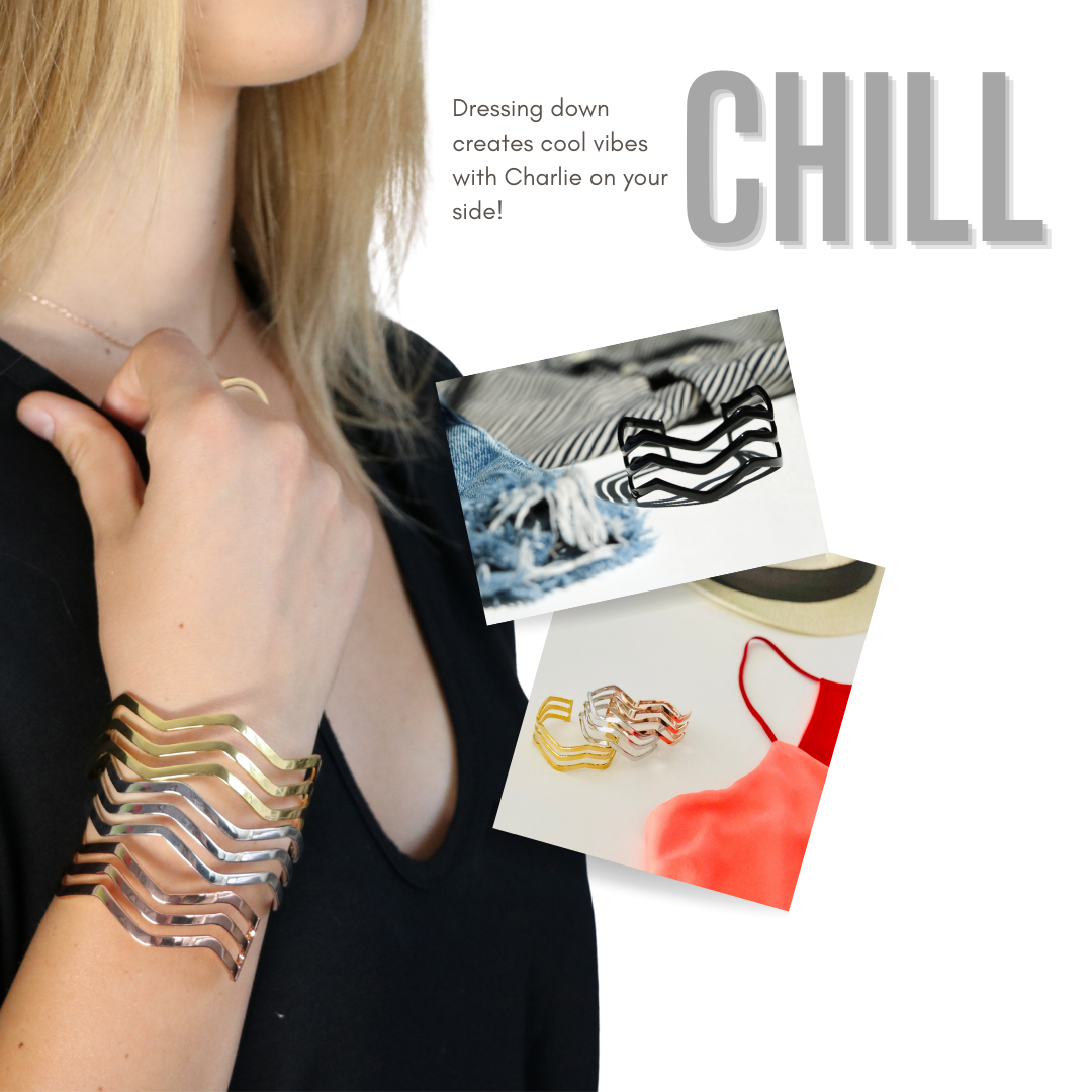 Dressing down creates cool vibes with Charlie on your side!