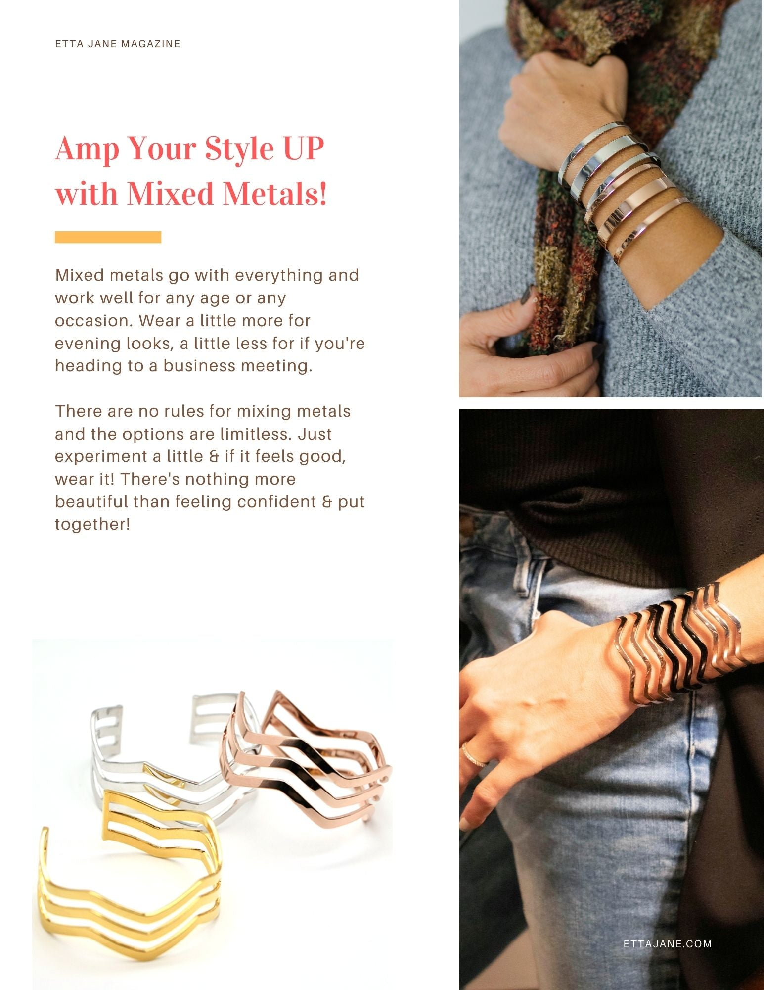 How To - Mixed Metal Fashion