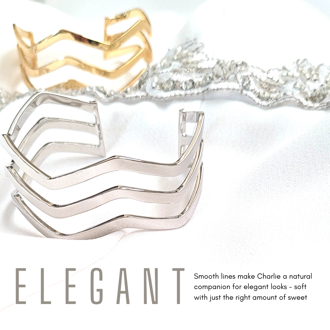 Smooth lines make Charlie a natural companion for elegant looks - soft with just the right amount of sweet