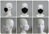 Black and white Smart Pro Masks at various angles.