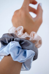 SILK SCRUNCHIES; many color variants