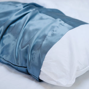 SILK PILLOWCASE 50X70cm, NORWAY BLUE