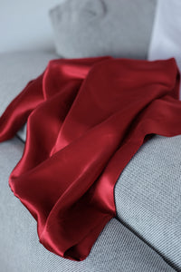 SILK PILLOWCASE 50X70cm DEEP RED; 22 momme