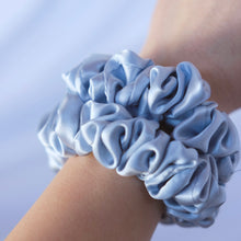 Load image SILK SCRUNCHIES extra; SKY BLUE