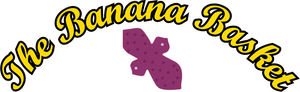 The Banana Basket logo text and cloth reusable pad