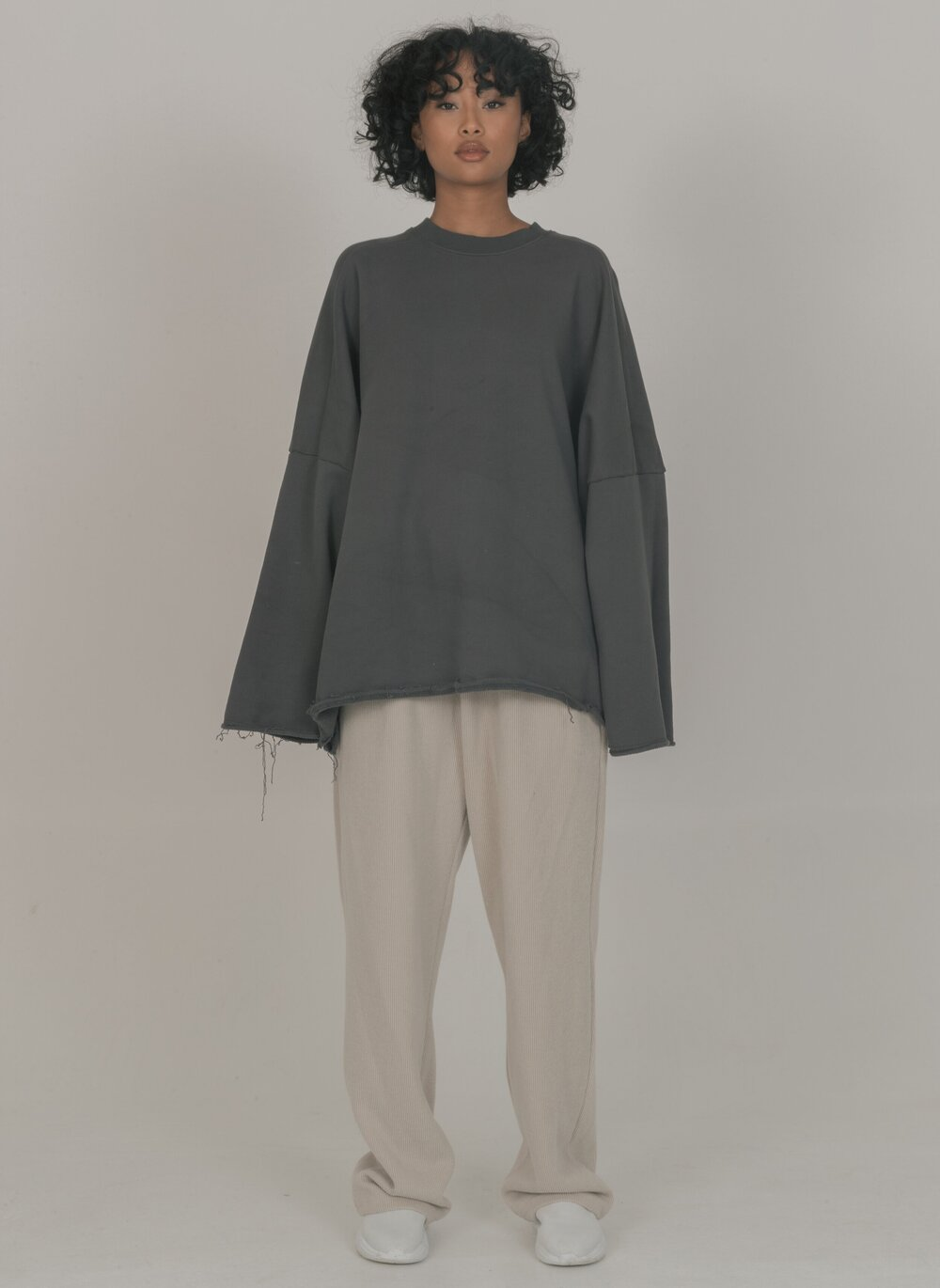 Cold Laundry Drop Shoulder Jumper Dark Grey