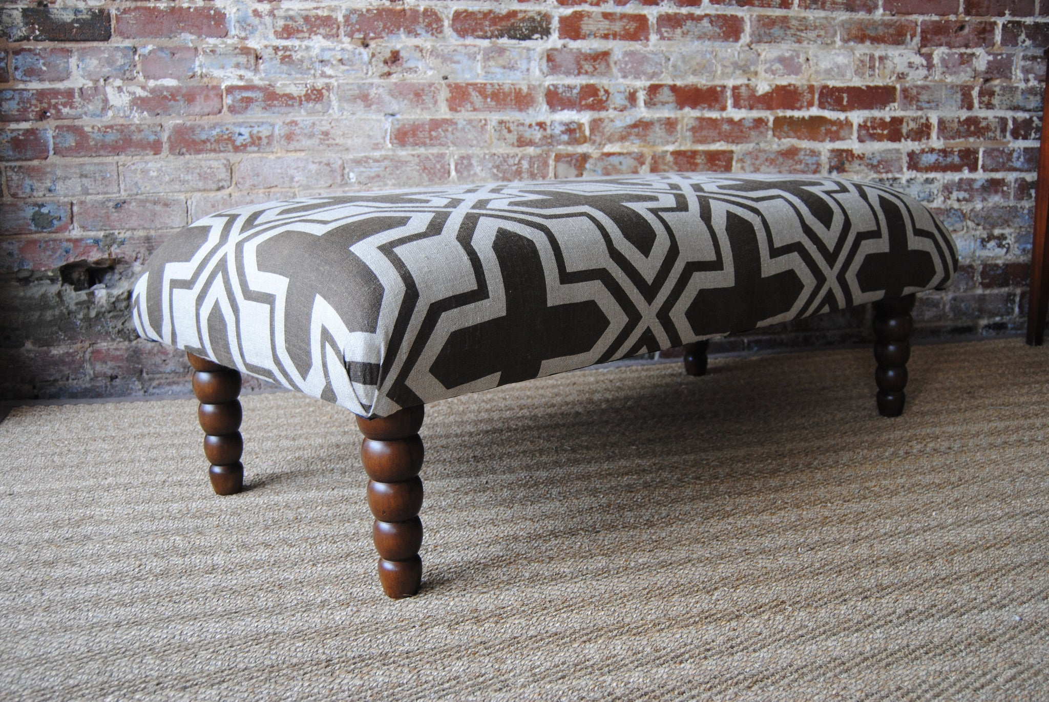 Celt Bench Coffee Table Ottoman custom hand made to order
