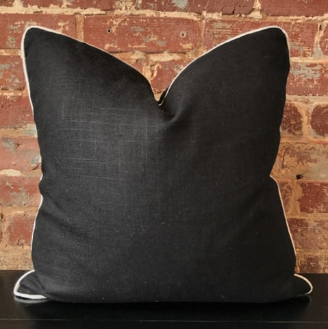Black Linen Pillow