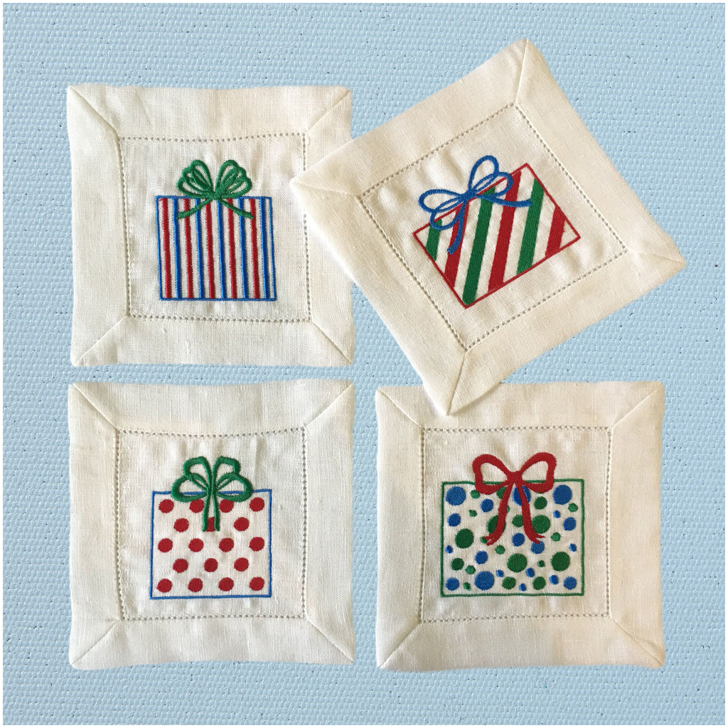 Presents Cocktail Napkins (set of 4)