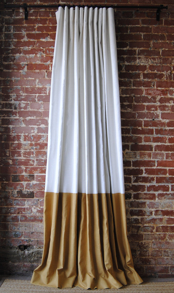 Color Block Drapery Panel A Classic Linen Drape With