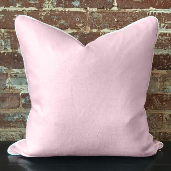 Light Pink Linen Pillow