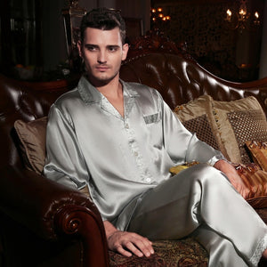 Silk Pajamas Men Pyjama Sets Pure Silk Sleepwear
