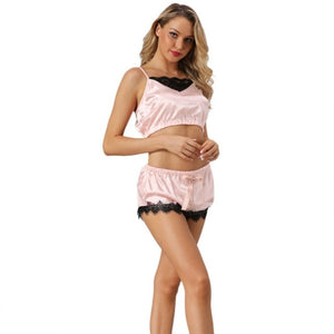 Cami Top and Shorts sexy lingerie Women Pajamas Set