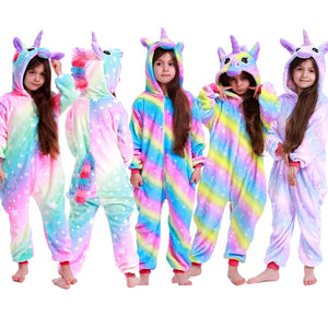Unicorn Pajamas For Children's Boys Girls