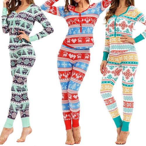 Long Sleeve Pants Top Xmas Sleepwear Holiday Cloth Set