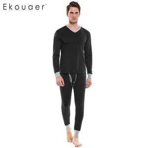 Autumn Winter Slim Solid Sleepwear