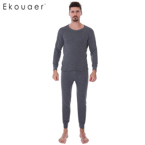Men's Autumn Winter Pajamas Thermal Underwear Set